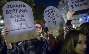 Manifestación en valencia contra la violencia machista, el 25 de noviembre del 2016.