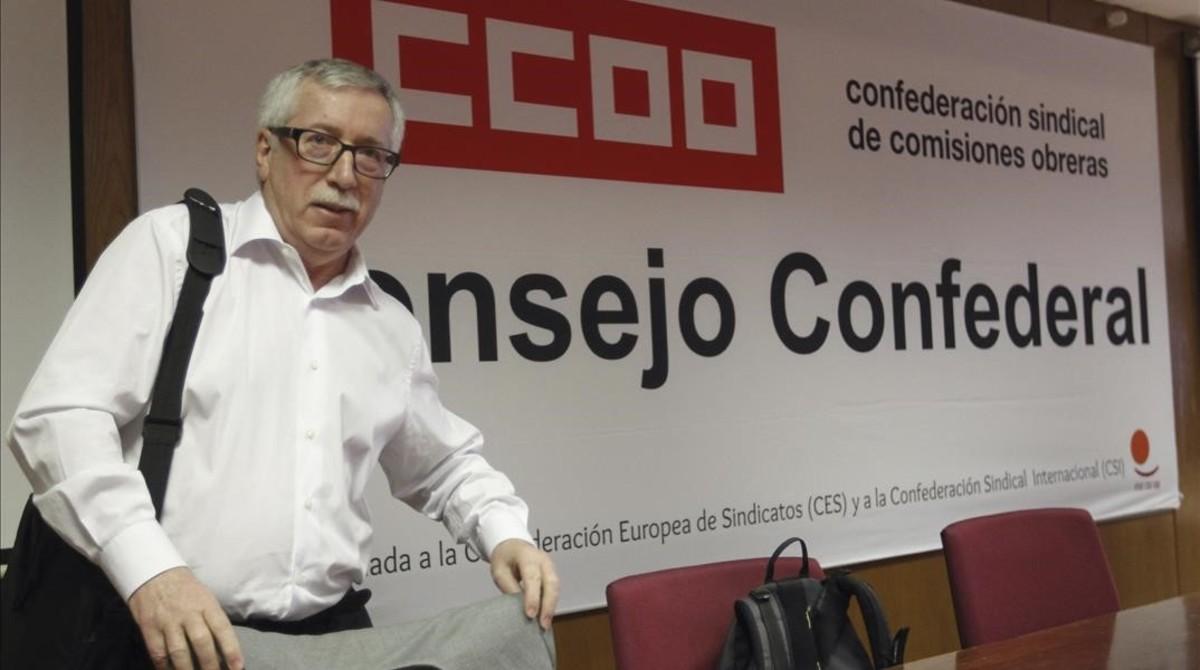 El secretario general de CCOO,Ignacio Fernández Toxo.