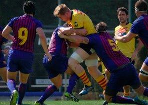 Imagen del encuentro entre la U.E. Santboiana y el Barça Rugby del pasado septiembre