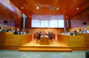 Imagen del Pleno municipal celebrado en el Ayuntamiento de Gavà