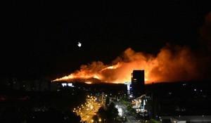 El incendio en Guadalajara.