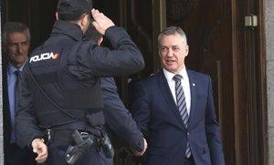 Iñigo Urkullu, tras declarar en el Tribunal Supremo.