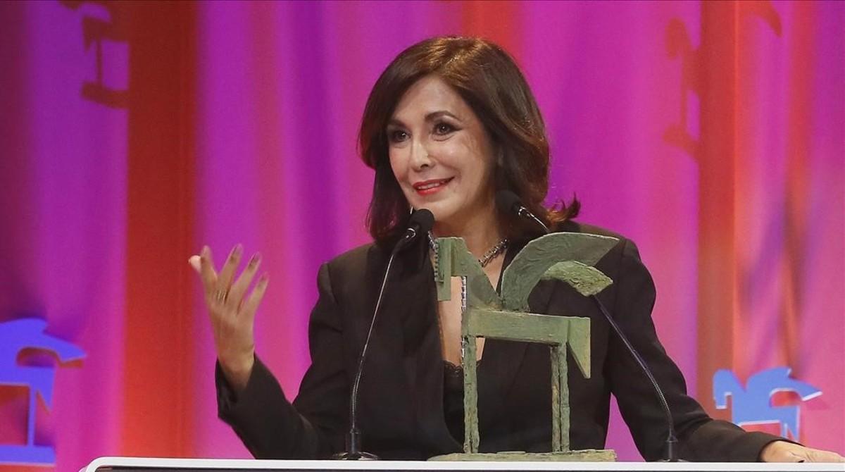 La periodista Isabel Gemio, en la gala de entrega de los Premios Onda del 2017.