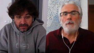 Jordi Évole hablando con Baltasar Garzón en 'Lo de Évole'.