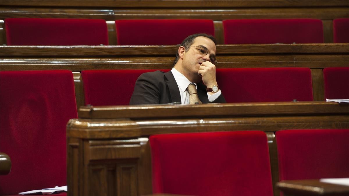Jordi Turull, en el Parlament.