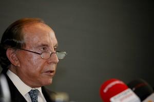 José María Ruiz Mateos, durante una rueda de prensa en Pozuelo de Alarcón, en el 2011.