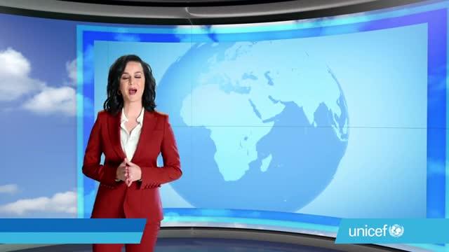 Katy Perry fa de noia del temps per a Unicef