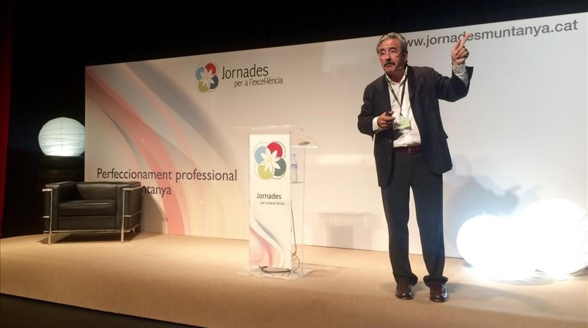 Kim Faura, ditrectorgeneral de Telefónica en Catalunya, durante su intervención en la Jornada.