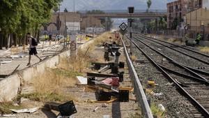 Sigue cerrado el tráfico ferroviario en Murcia por los destrozos en las vías