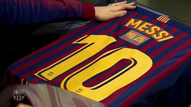 Los jugadores del Barça lucirán su nombre en chino en las camisetas durante el Clásico.