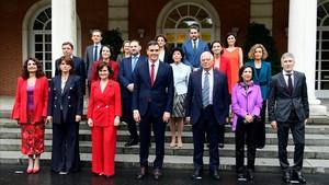 Los ministros del Gobierno de Pedro Sánchez.