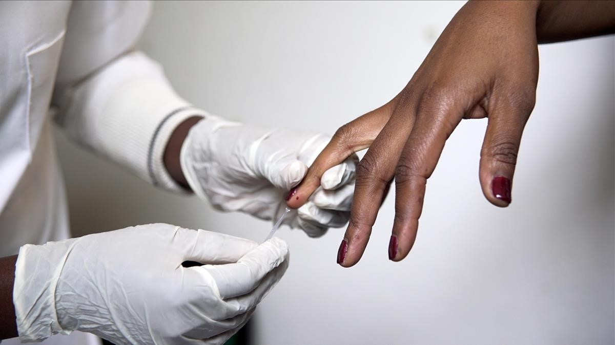 Tratamiento de la malaria en Mozambique.