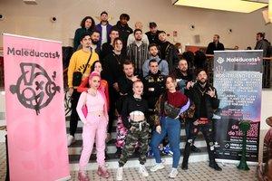 Foto de familia de los artistas que forman parte del cartel de la primera edición del 'Maleducats', festival de música urbana impulsado por Lildami.