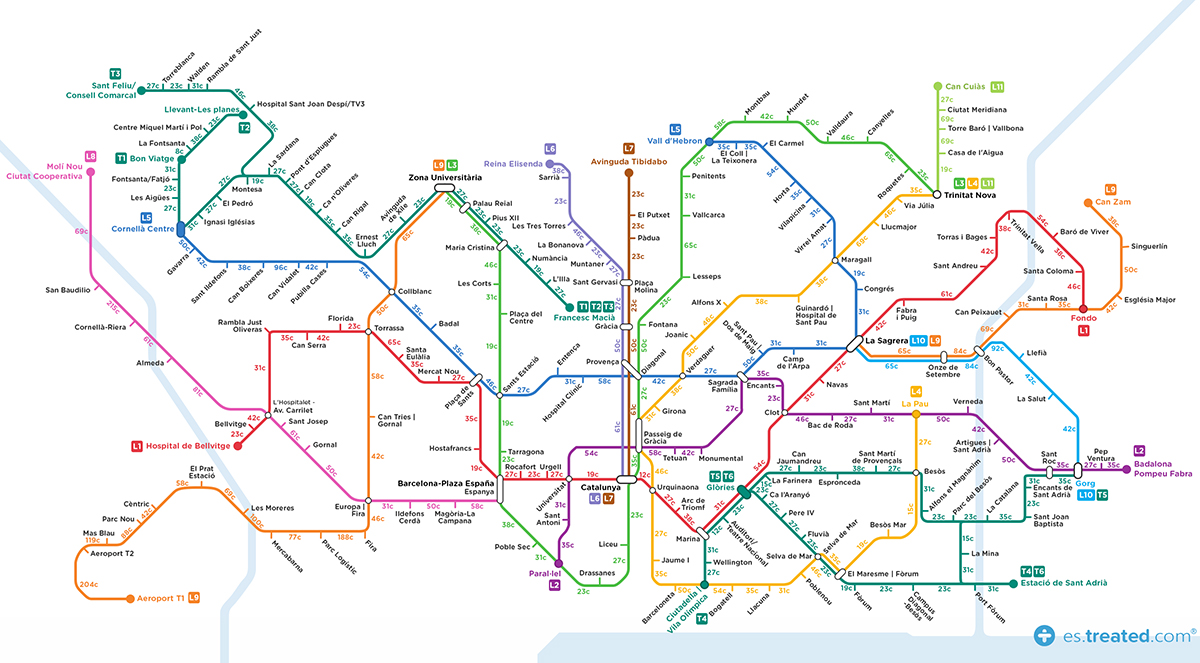Lineas De Metro Barcelona Mapa.Este Es El Mapa Del Metro De Barcelona Que Te Anima A Perder