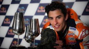 Marc Márquez, ganador en Jerez, en la sala de prensa del trazado andaluz.