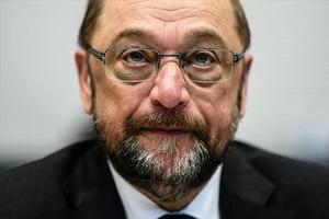 Martin Schulz, presidente del Partido Socialdemócrata alemán, en Berlín, el lunes pasado.