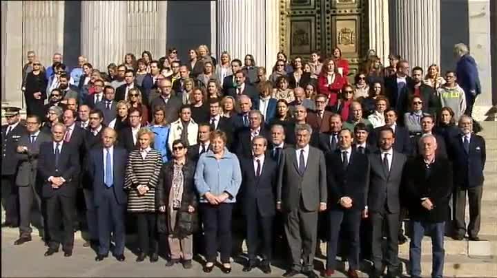 Minuto de silencio en el Congreso de los Diputados.