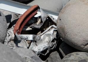 El nou fragment trobat a la Reunió de lavió del vol MH370 de Malaysia Airlines.