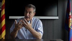 Pep Segura, en una imagen en las oficinas del Barça.