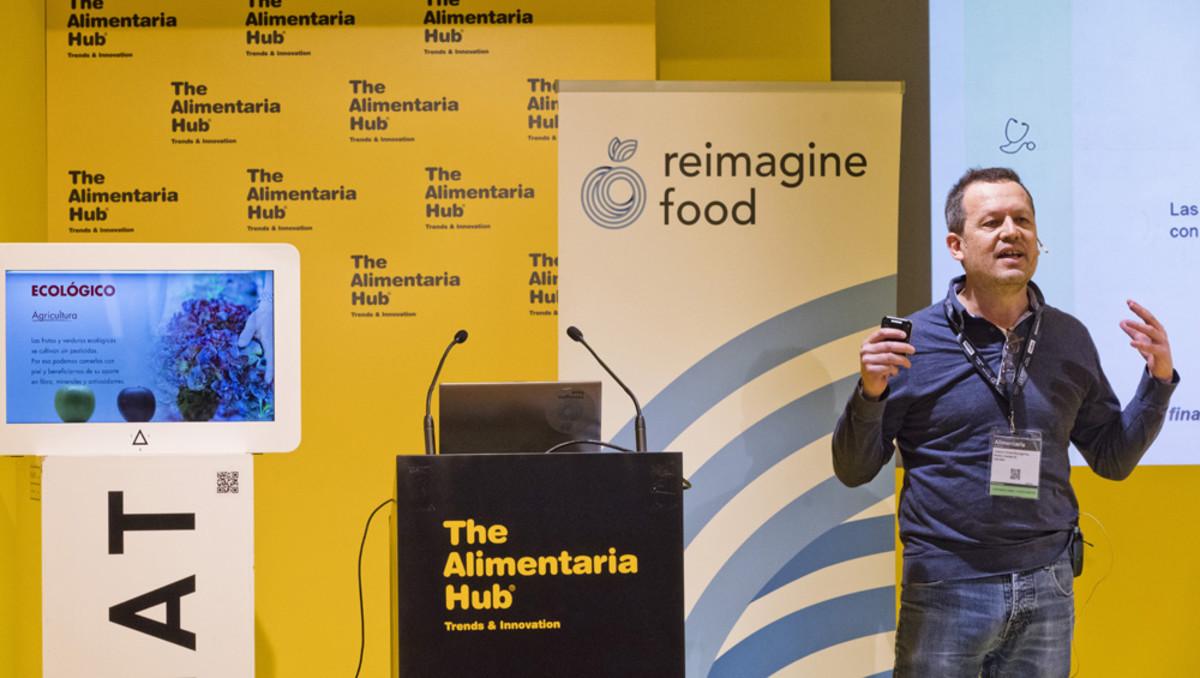 Presentación de las cinco start-ups participantes en Reimagine Food, en Alimentaria.