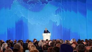 Putin, en su discurso.