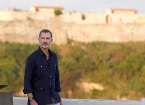 El rey Felipe, durante el viaje oficial a La Habana.