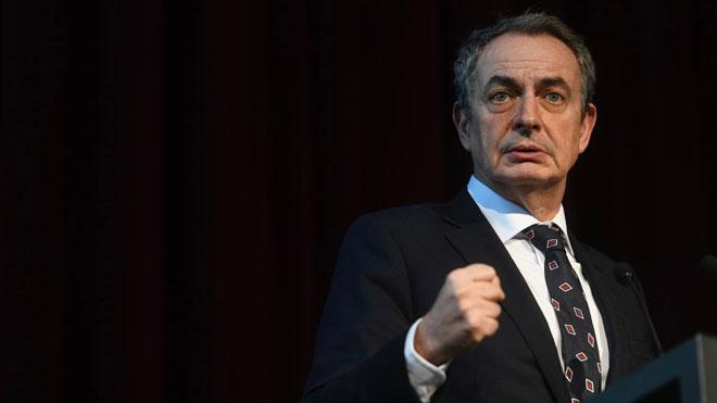 José Luis Rodríguez Zapatero, en Barcelona.