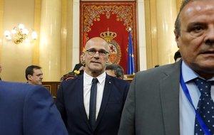 El político de ERC presoRaül Romeva, en el Senado.
