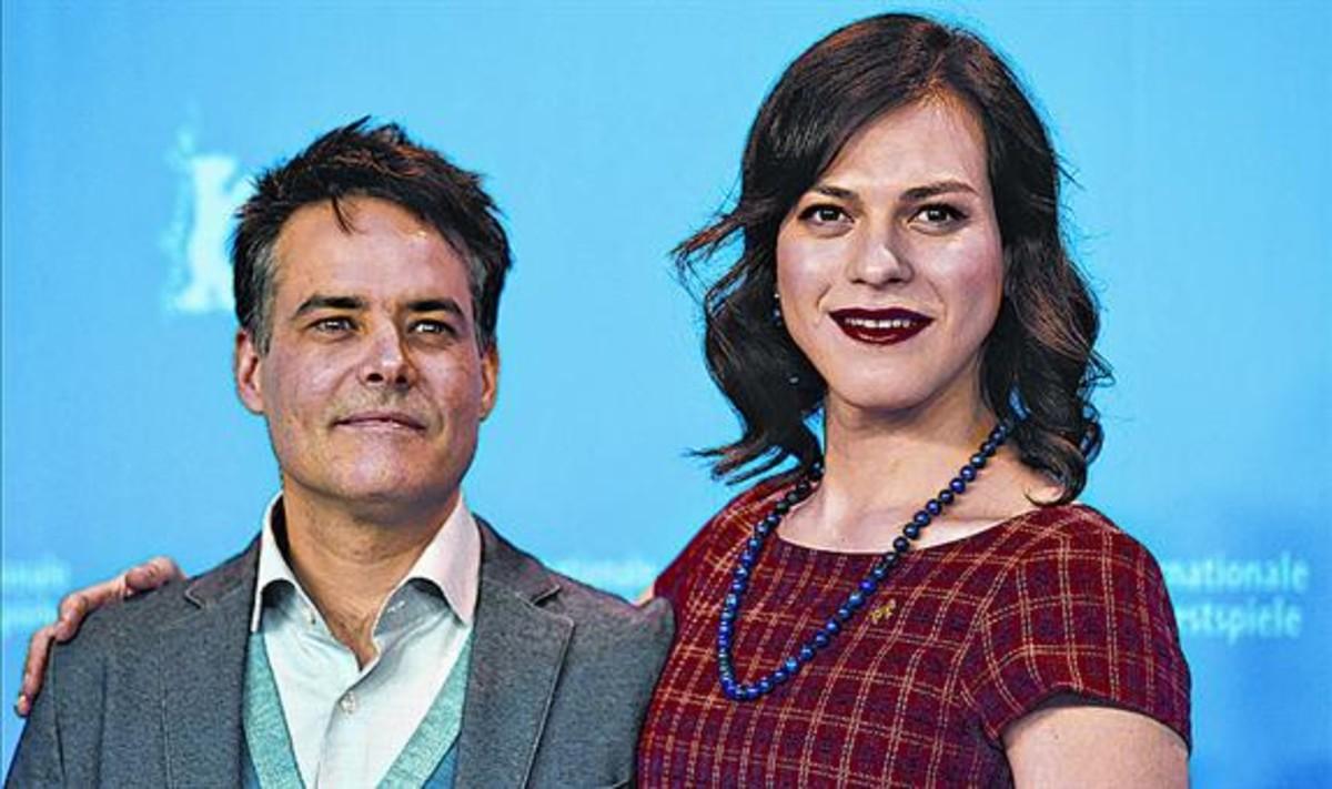 Sebastián Lelio y Daniela Vega, ayer en Berlín.