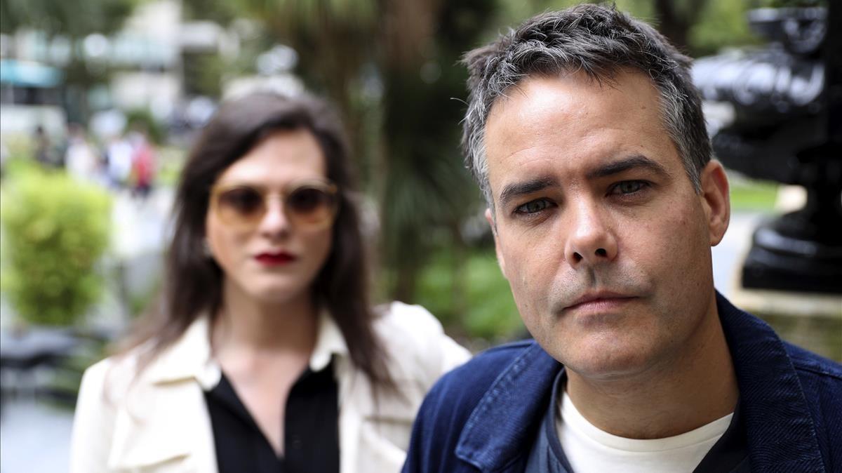 Sebastián Lelio y Daniela Vega (protagonista de Una mujer fantástica), este viernes en San Sebastián