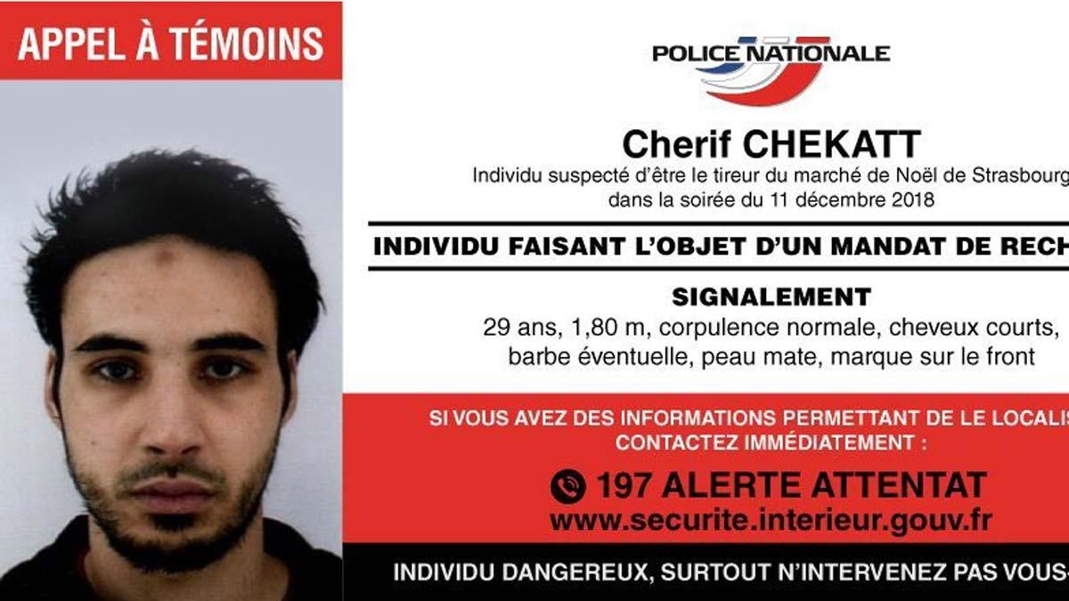 Segundo día de búsqueda del presunto terrorista de Estrasburgo.