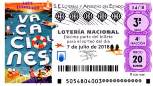 Sorteo extraordinario de vacaciones de la Lotería Nacional.