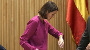 La ministra de Industria, Reyes Maroto, durante su comparecencia en la Comisión de Industria del Congreso de los Diputados.