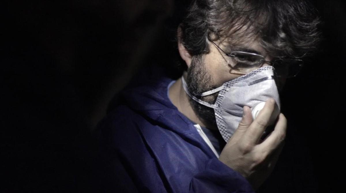 Jordi Évole, en el programa de 'Salvados' sobre la industria porcina española.