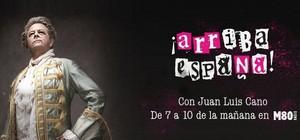 Jose Luis Cano, en la imagen de portada de su programa de radio '¡Arriba España!'.