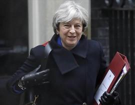 Teresa May sale del número 10 de Downing Street, en diciembre.