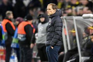 Tuchel, durante la derrota en Dortmund.