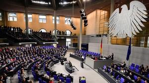 Vista general del Bundestag, el Parlamento alemán.