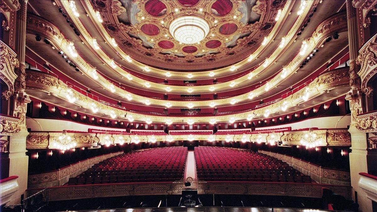 Aspecto del Liceu que abrió el telón el pasado 27 de septiembre con un recital de Radvanovsky y Beczala.