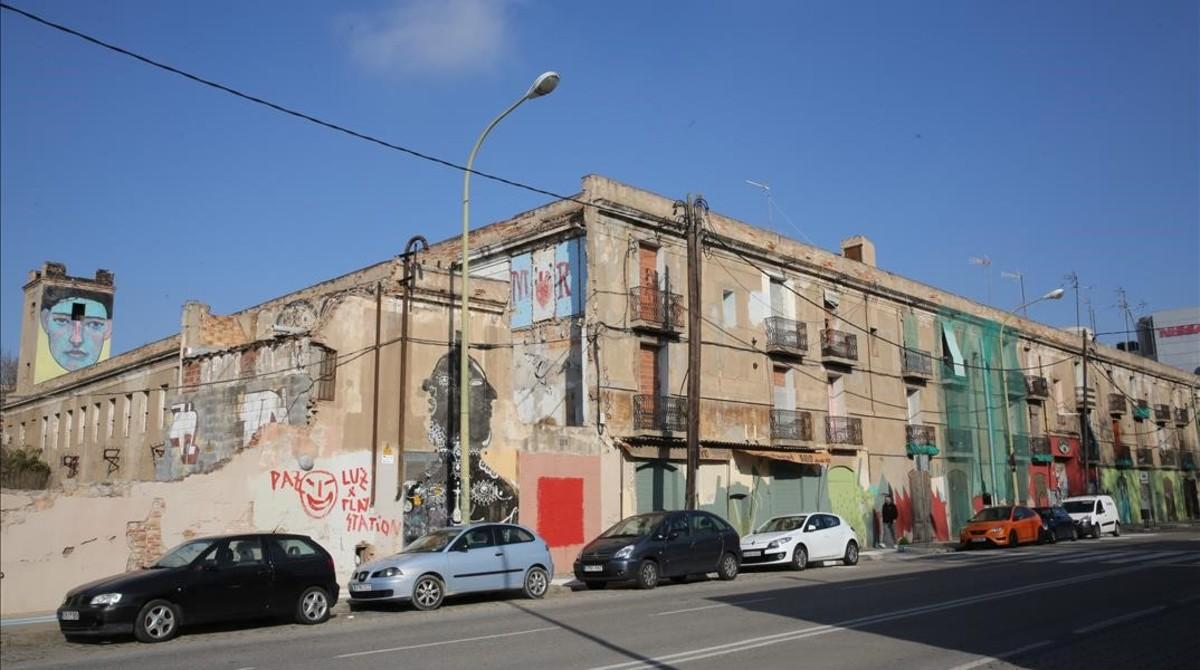 Rincón de la calle de Pere IV, el corazón del Detroit catalán.