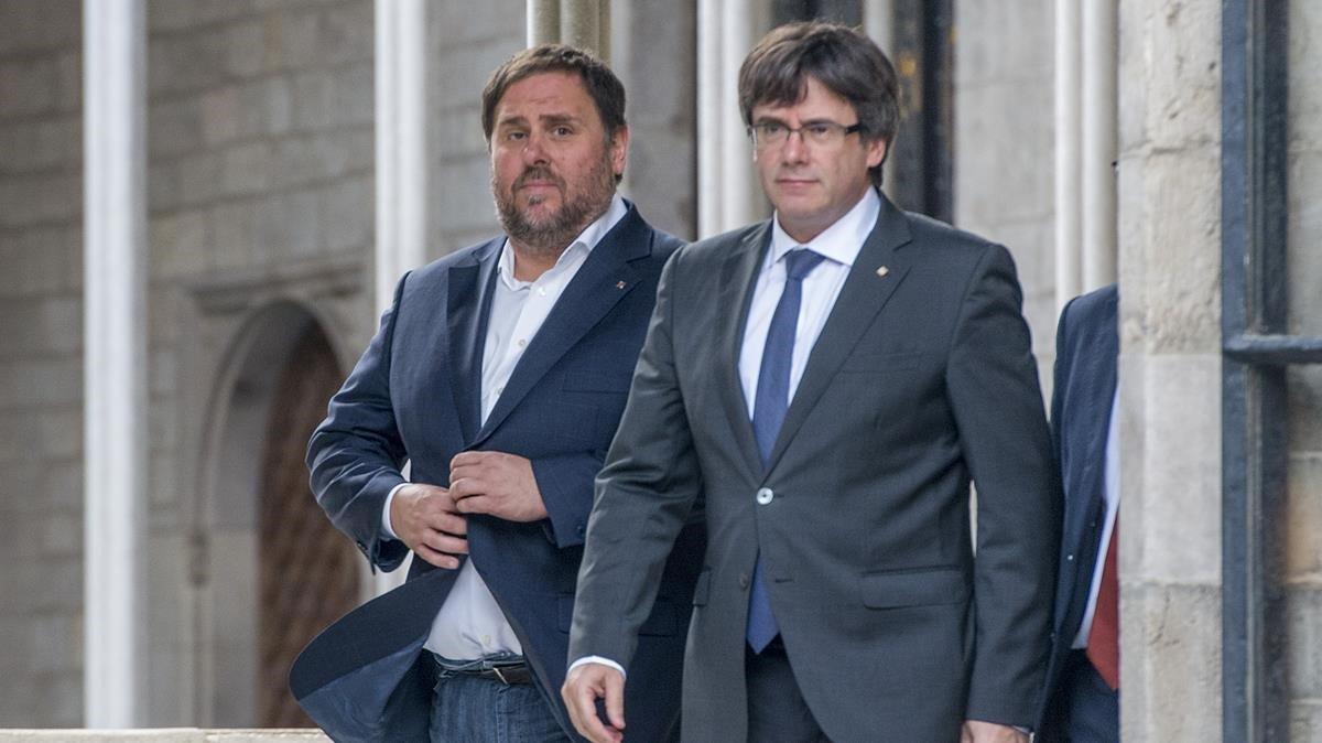 """Puigdemont anirà al debat de TV-3: """"Si Junqueras hi és, jo també hi seré"""""""