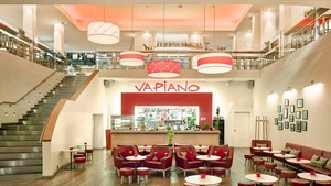 Aspecto general del restaurante de Vapiano en Diagonal Mar.