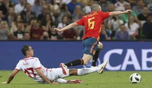 Iago Aspas desperta Espanya contra Tunísia