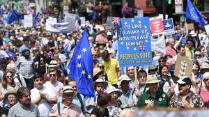 Milers de persones demanen a Londres votar sobre l'acord del 'brexit'