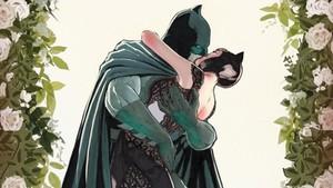Batman y Catwoman.