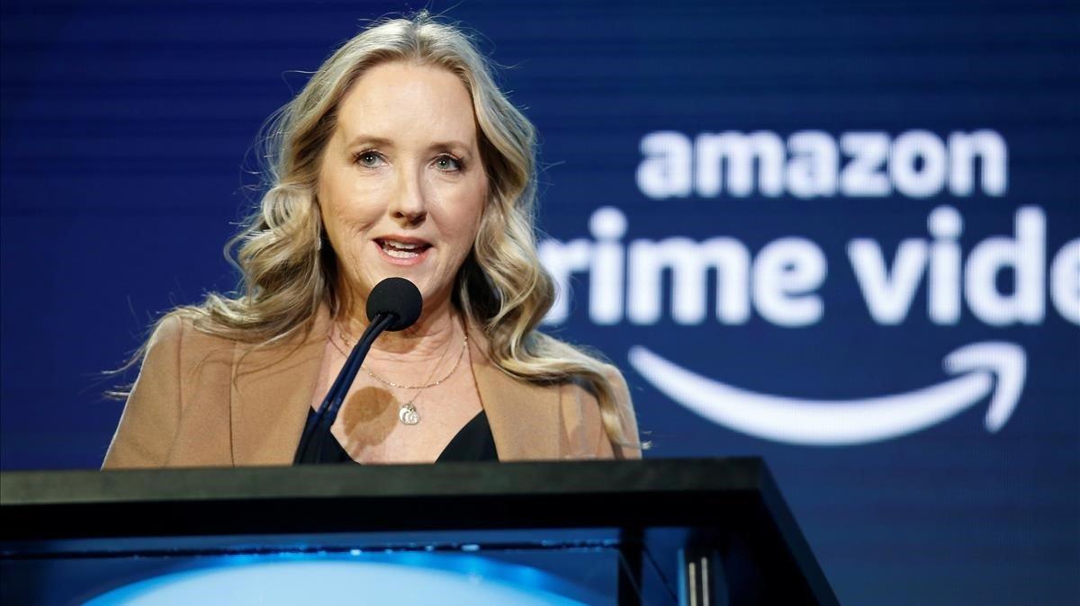 Jennifer Salke, responsable de Amazon Studios, anuncia los nuevos proyectos en Pasadena (California, EEUU).