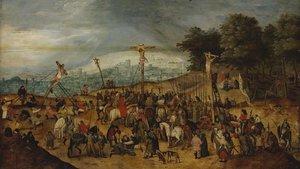 El cuadro de La Crucifixióndel pintor flamenco Pieter Brueghel el Joven.