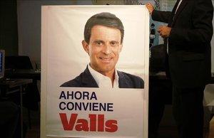 Cartel de Manuel Valls para las elecciones municipales del 26-M.