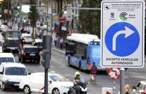 Zona de restricción de vehículos contaminantes de Madrid Central.