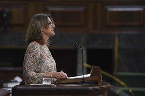 Pleno del Congreso ,en la imagenla Vicepresidenta Cuarta Teresa Ribera.